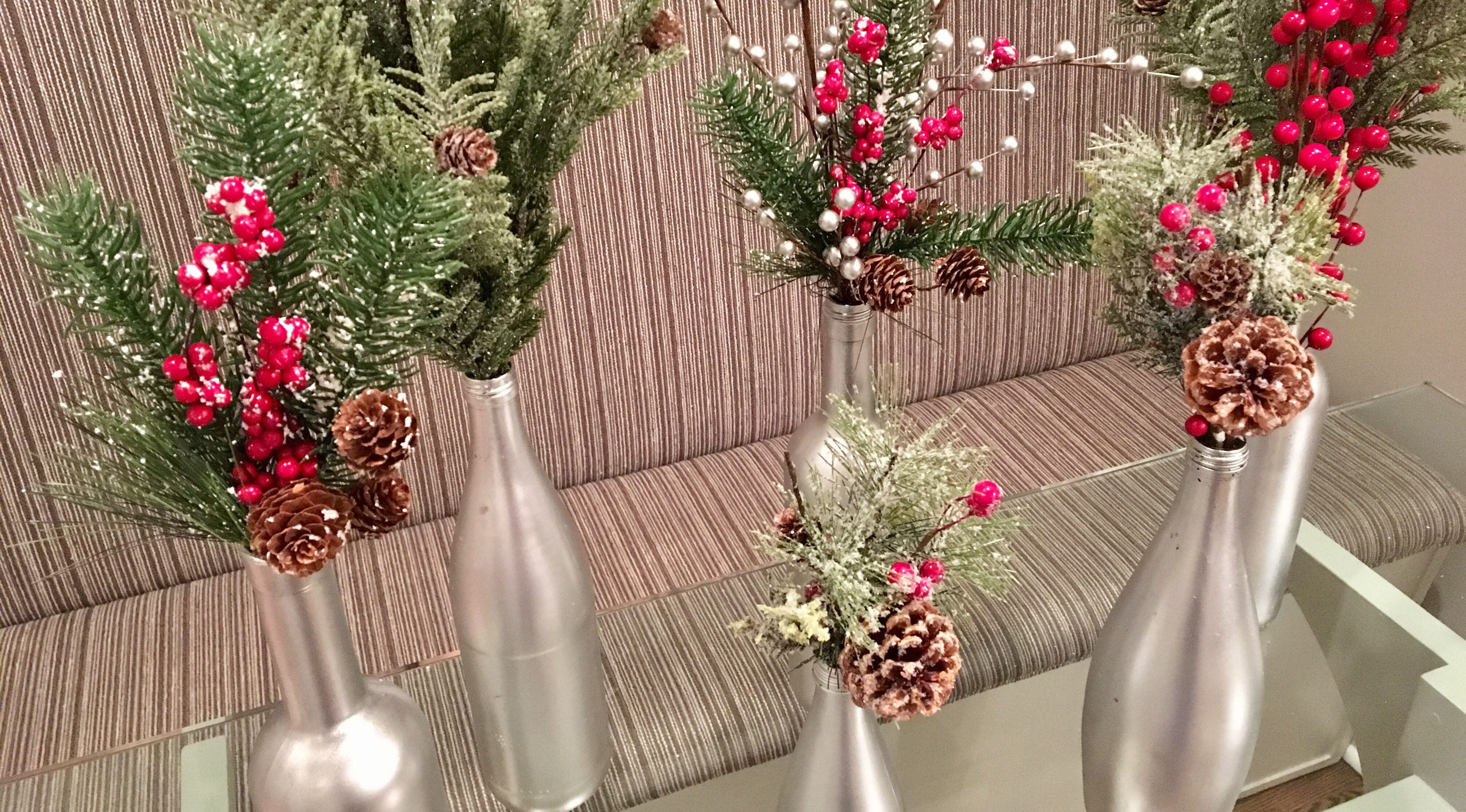 Quick easy holiday decor well and strong with ms for Inexpensive christmas decorations